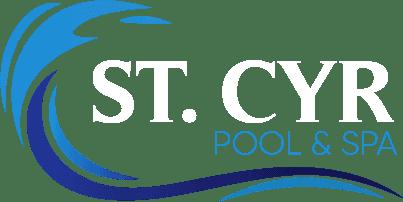 St Cyr logo white
